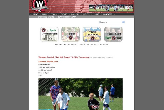 New Westside FC dotcom website for Season 34